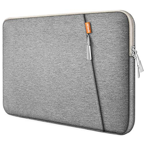 JETech Laptop Sleeve Compatible for 13.3-Inch Notebook Tablet iPad Tab, Compatible with 13' MacBook Pro and MacBook Air,Waterproof Shock Resistant Bag Case with Accessory Pocket, Light Grey