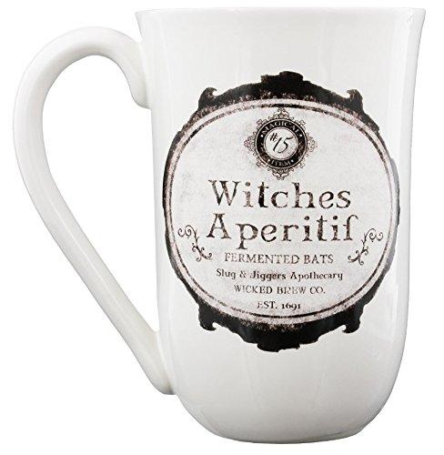 Nemesis Now Witches Aperitif Tasse, 16,5 cm, Weiß
