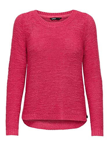 ONLY Damen ONLGEENA XO L/S KNT NOOS Pullover, Claret Red, M