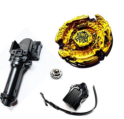 Rapdity Kampfkreisel- Hades Kerbecs Mega Metal Fusion für Beyblade Masters 4D 1 Launcher + 1 Metallspitze