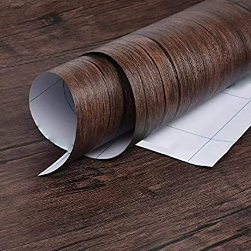 RAUSHIK Self Adhesive Wood Grain Wallpaper Waterproof Old Furniture Vinyl Stickers Wooden Door Wardrobe Desktop PVC Wall Papers 24 120 Wood Texture 7