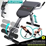 Sportstech Appareil de Musculation du Dos et des abdominaux 3-en-1 BRT200, Banc Sit-up Pliable incliné, Hyper Extension, Multifonctionnel, Fitness Maison, 5 Angles d'Inclinaison (BRT200)