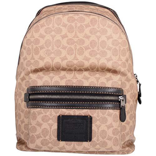 Coach Academy Unisex Medium Khaki Canvas Backpack 73579JIKHA