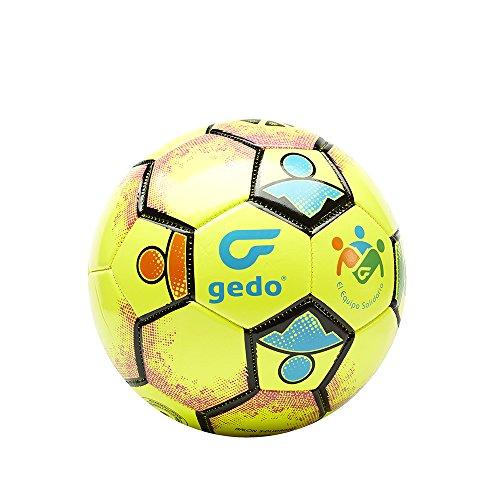 Gedo Balsol 1601 Balón de Fútbol, Unisex niños, Amarillo, Talla Única