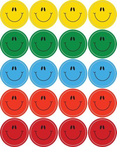 Carson Dellosa Smiley Faces, Multicolor Shape Stickers (5270)