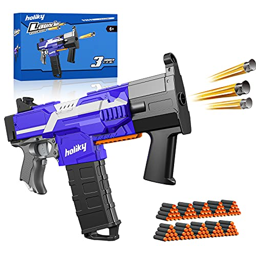 Holiky Toy Guns for Nerf Guns Bullet, Automatic Blaster Guns Toys for Boys Ages 6-12, 3 Modes Soft Foam Darts Guns with 100pcs Dart Refill, Toys Guns Birthday Gifts for 8 Year Old Boys Girls Kids