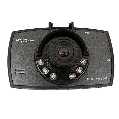 Gaetooely DVRs de Coches de Pantalla de 2,4' LCD 1080p Grado 120 de Ancho de Angulo de Vision de Noche del vehiculo grabadora de Camara Video Dash CAM G-Sensor HDMI