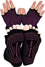 Yoga Gloves AND Socks COMBO PACK | Yoga Gear for Women & Men | by Mato & Hash