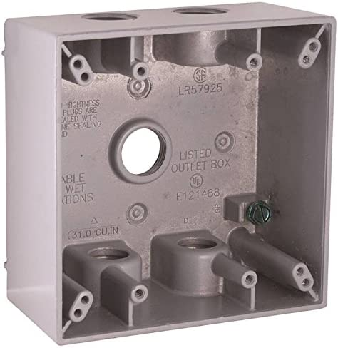 Bell Outdoor 5337-0 2-Gang Ranking Don't miss the campaign TOP1 Box Weatherproof Gray
