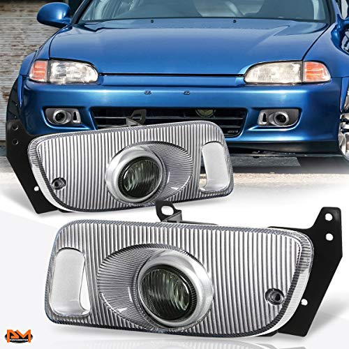 For Honda Civic 2/3-Dr 92-95 OE Style Smoked Lens Bumper Fog Light/Lamp+Switch