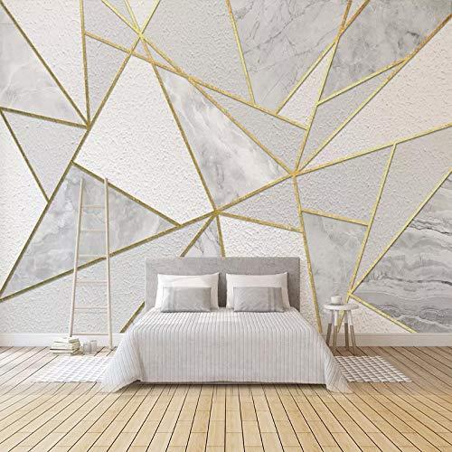 Impermeable fácil aplicación Fondo de Pantalla ext Moderna Simple 3D geométrica de mármol del Papel Pintado de Oro Línea de engrudo Salón Dormitorio Fondo de la Pared Pintura al Fresco 3D