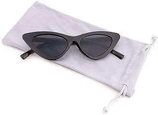 Creamily Vintage Kids Cat Eye Sunglasses Retro Clout Goggles Junior Triangle Glasses