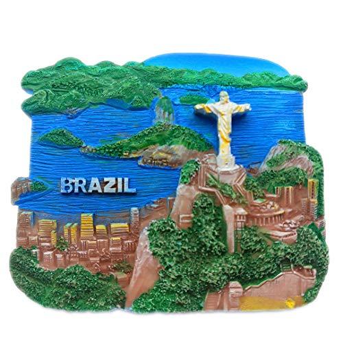 Jésus Rio Brésil 3D Réfrigérateur Aimant Réfrigérateur Ville De Voyage Souvenir Collection Cuisine Décoration Tableau Blanc Autocollant Résine