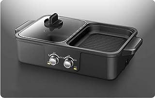 LQH Pan Barbacoa Multifuncional for Uso en el hogar de Doble Uso de la Barbacoa Caliente Olla Una Olla Olla eléctrica Olla eléctrica Pot Pot for el Lavado de recipientes de Cocina for la Parrilla