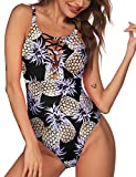 Ekouaer Womens One Piece Swimsuit Sexy Hollow Out V Neck Cross Back...