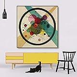 JNZART Berühmte Wassili Kandinskii Malerei Kreise Ovale Abstrakte Kunst Leinwand Malerei Wandbilder für Wohnzimmer Gemälde Home Decor 60x60cm