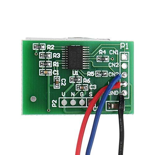 ZLININ Y-longhair 12V Un canal capacitivo de la tecla táctil del sensor del módulo del botón de encendido del ordenador con relé de auto-bloqueo de la función del módulo del sensor