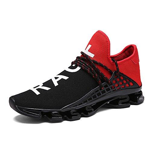XIANV Neue Freizeitschuhe Für Männer Mode Licht Atmungsaktive Billige Lace-up Männliche Schuhe Super Licht Sneaker (44, rot)