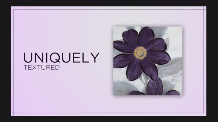 Madison Park 30 X 30 inch Transitional D/écor Midnight Bloom Plum Painted Hand Embellished Floral Canvas Wall Art