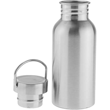 350ml/500ml選ぶ ステンレス製 水ボトル ボトル 水筒 お湯と冷水入れ シングルウォール 漏れ防止 キャンプ スポーツ用 - 500ml