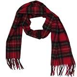 Lona Scott Tartanista - Bufandas de tartán escocés - 100% lana de cordero - 152 x 30 cm - Royal Stewart