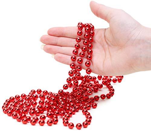 Christmas Concepts 9ft Christmas Bead Chain - Christmas Bead Garlands - Christmas Decorations (Red)