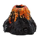 Weryffe Acuario Ornament VULKAN Forma Ornament Burbuja Piedra Acuario Bomba de oxígeno Bomba de Aire Acuario Juguete, Negro