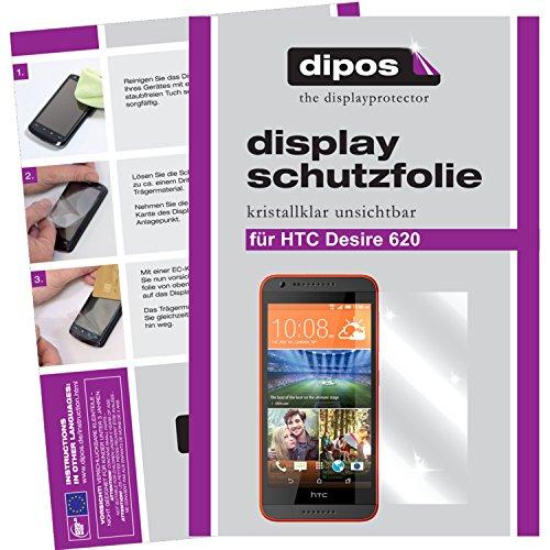 dipos I 6X Schutzfolie klar kompatibel mit HTC Desire 620 Folie Bildschirmschutzfolie