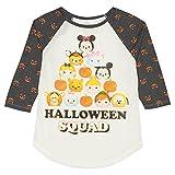 Disney Girls' Tsum Tsum Halloween Long Sleeve Raglan T Shirt (Large 10-12)