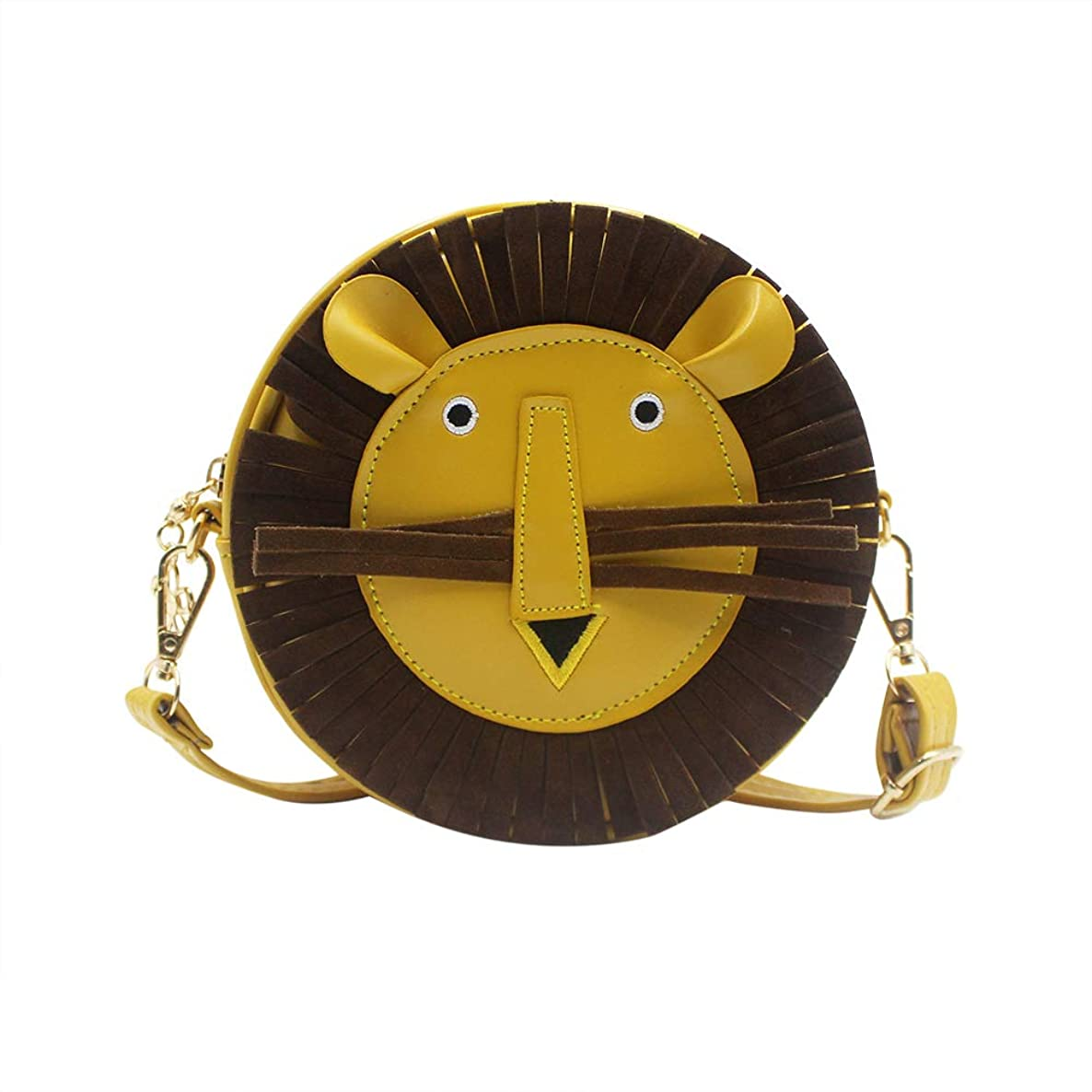 Kids Crossbody Purse Cartoon Lion Shoulder Bag Satchel with Adjustable Strap for Boys Girls