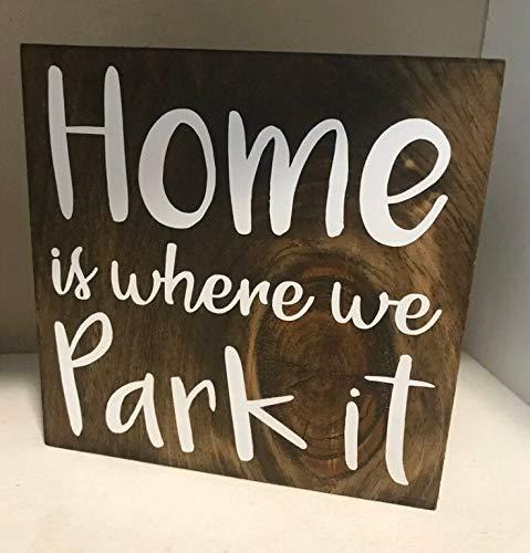 Placa de madera para colgar en madera, letrero de campista, letrero rústico de campista, decoración de remolque de viaje, señal de campamento de madera, señal de camping, decoración del hogar porche