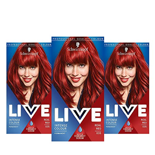 Schwarzkopf Live Intense Permanent Hair Colour, Real Red (number 35), 142ml