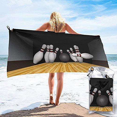 BK Creativity Bath Towel,Bowling Palyer Toallas De SPA Extra Grandes para Mujeres para La Decoración del Hogar 70x140cm