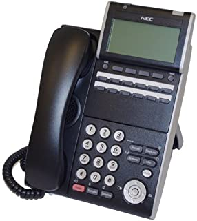 NEC ITL-12D-1 (BK) - DT730 - 12 Button Display IP Phone Black Stock# 690002 (Renewed)