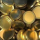 200 Stück X to 100 mm Gold Schraubdeckel für Gläser • Twist Off Deckel Verschluss Ø 100mm • Ersatzdeckel To100 • 25,50,100,150,200,250,500 Stück • Große Auswahl Verschiedene Größen und Farben