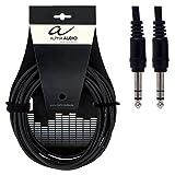 Alpha Audio 190340 Basic Line Câble Patch 0,9 m 6,3 mm Jack Stéréo Noir