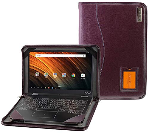 Broonel - Contour Series - Purple Leather Protective Case With Shoulder Strap Compatible with the HP Pavilion 14-ce2000na Full-HD 14 Inch Laptop