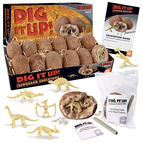 MindWare Dig It Up! Dinosaur Skeleton Eggs Excavation kit