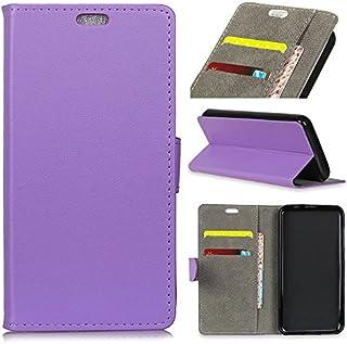 MeetJP の Motorola P40 純正 レザー 財布 シェル カバー, フリップ 立つ, カード スロット, スタイリッシュ, Purple