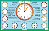 Tot Talk Telling Time Educational Placemat for Kids, Washable and Long-Lasting