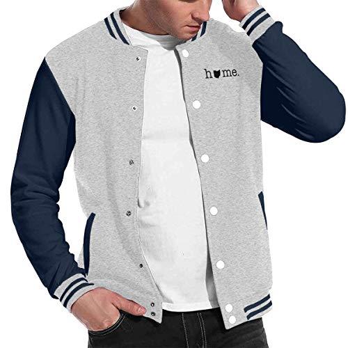 Home in Ohio State Man Girls Autumn Winter Daily Baseball Uniform Jacket Sport Coat Blazer Gray