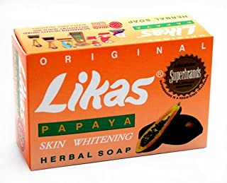 Likas Original Papaya Whitening Soap, (Pack of 2)