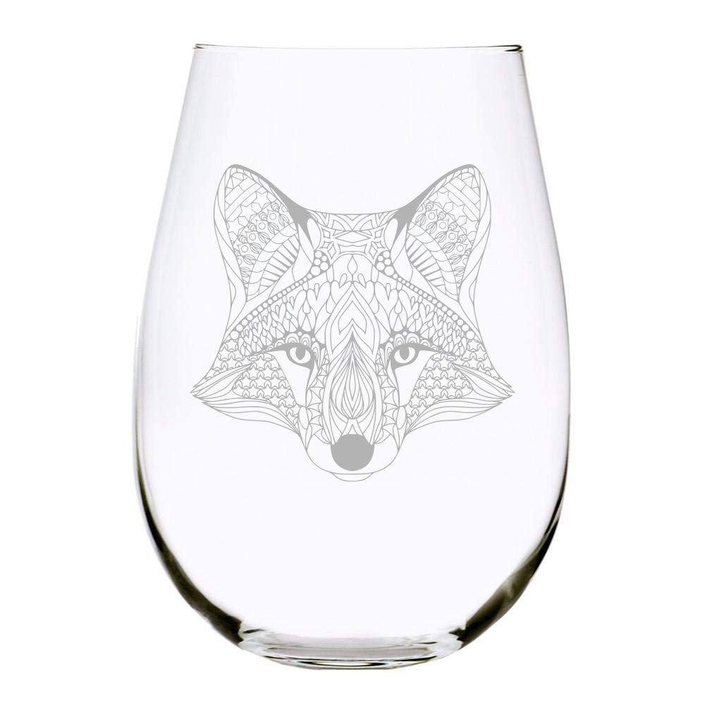C M Fox 17 oz. Mesa Mall wine stemless New popularity glass