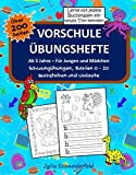 Vorschule Übungshefte ab 5 Jahre für Jungen und Mädchen: Der große 3 in 1 Vorschulblock: Schwungübungen, Zahlen 0-20, Buchstaben und Umlaute