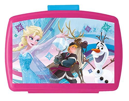 POS 24936088 - lunchbox Premium met inzetstuk, met Disney Frozen motief, ca. 16 x 12 x 6,5 cm, van kunststof, bpa- en ftalaatvrij, ideaal voor lunchbrood, voor jongens en meisjes.