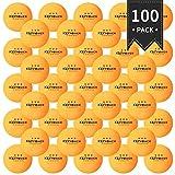 ENG Lot de 100Pcs Ping-Pong Balles de Tennis de Table en résine ABS 40mm 4 étoiles pour Exercices, Entraînements, Club de Tennis de Table, Amateurs, Adultes et Enfants Jeux,Jaune