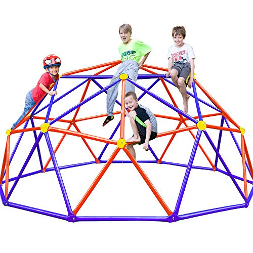 Zupapa 2021 Upgraded Dome Climber with 2-Year Warranty, Decagonal Geo Jungle Gym Supporting 735LBS with Much Easier Assembly, a Lot of Fun for Kids (Purple)