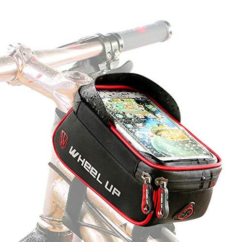 Fietstas Waterdichte Frametas Met TPU-Touchscreen, Waterdicht, Hoofdtelefoongat, Fietstas Frametas Geschikt Voor IponeX/IPhone 7s Plus/6s Plus/Samsung S7