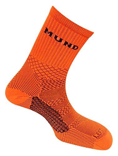 Bike-Socken antibakteriell und therapeutisch mit Fuß Links und rechts, orange, EU 46-49