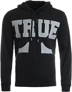 True Religion Men's Large Branded Long Sleeve Pullover Hoodie Hooded Sweatshirt